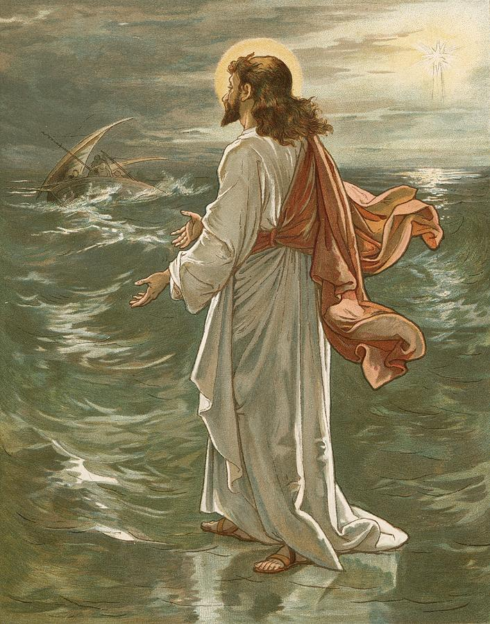 Christ Walking On The Waters Painting
