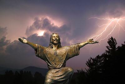 Christ Welcomes Sculpture