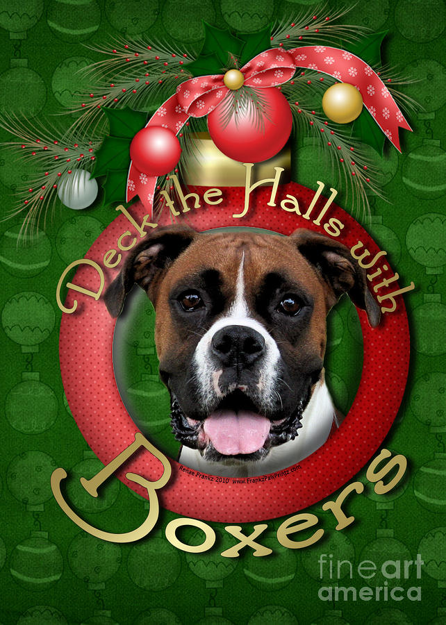 Christmas - Deck The Halls With Boxers Digital Art