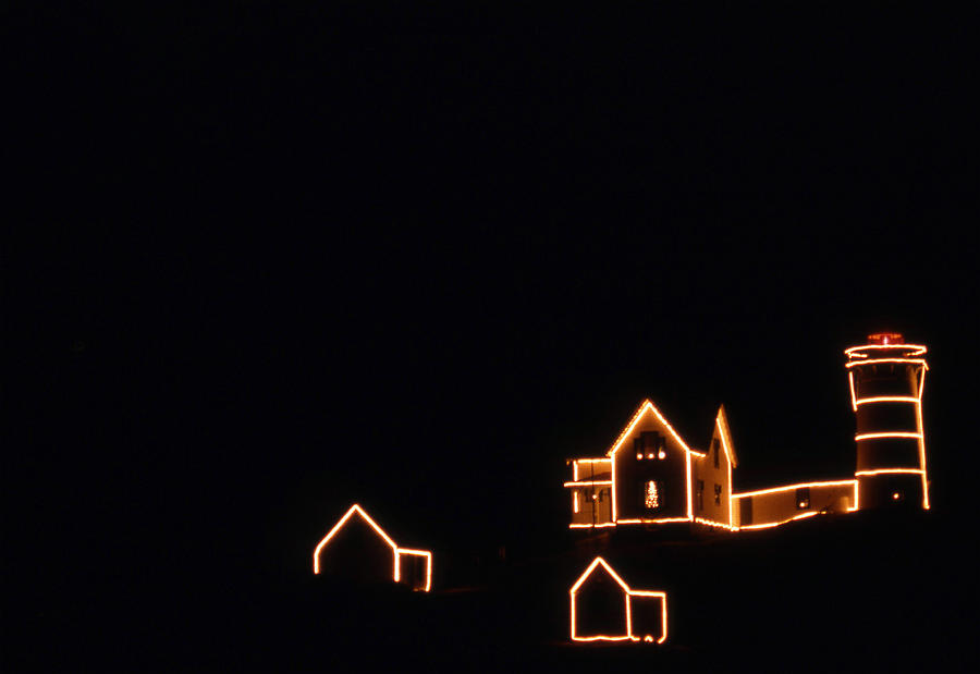 Christmas At The Nubble Photograph