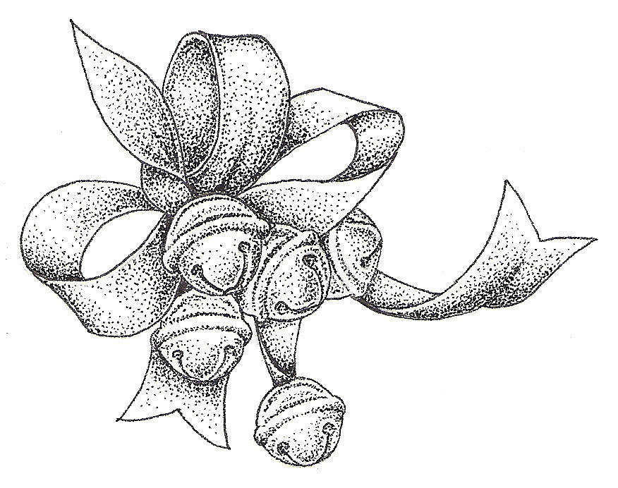 Christmas bells drawing by christy beckwith