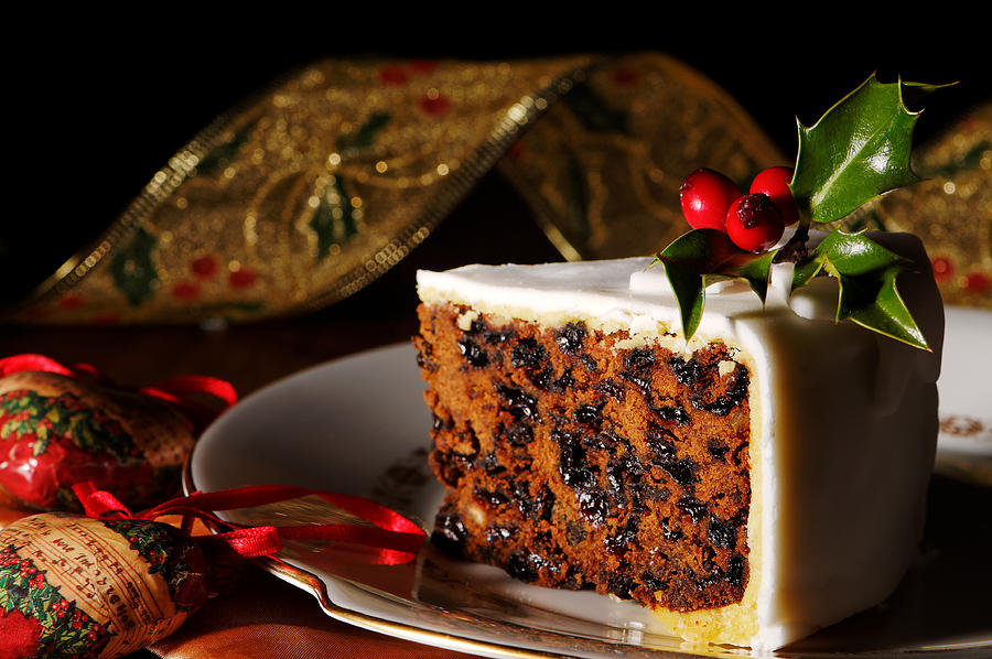Christmas Cake Slice is a photograph by Amanda Elwell which was ...