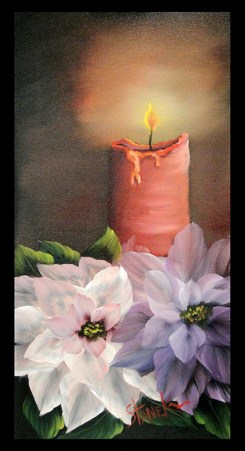 Christmas candle light by amy stanek for Candle painting medium