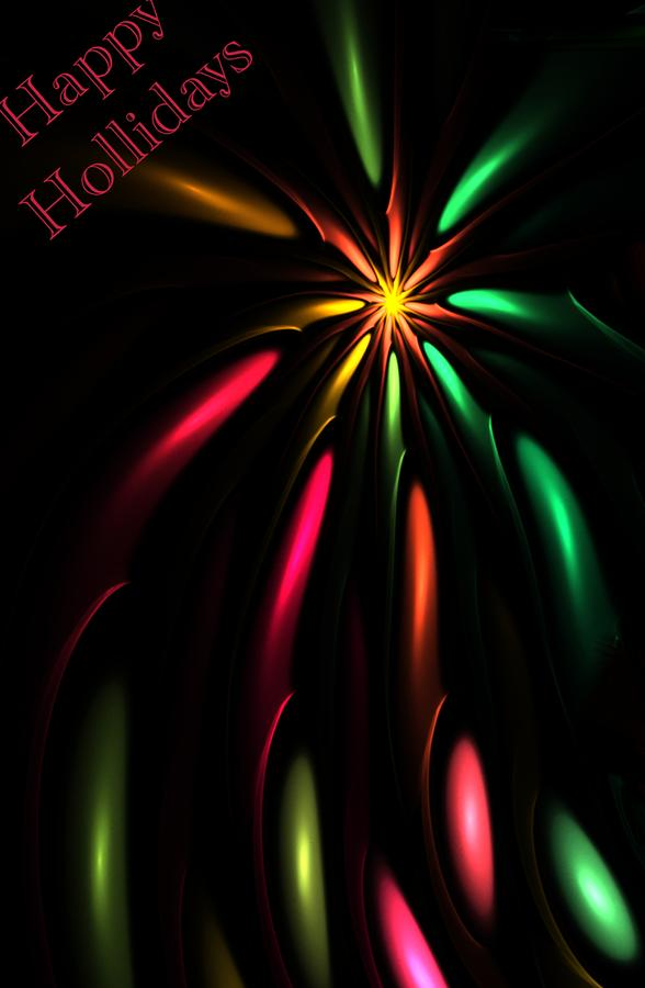 Christmas Card 110810 Digital Art  - Christmas Card 110810 Fine Art Print