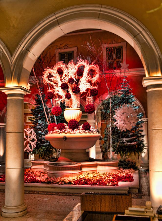 Christmas Decor At Bellagio Hotel Photograph by Jon Berghoff