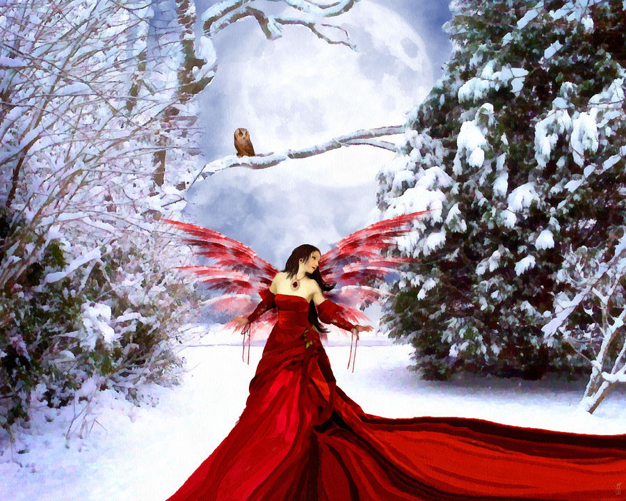 Christmas Eve Angel Painting  - Christmas Eve Angel Fine Art Print