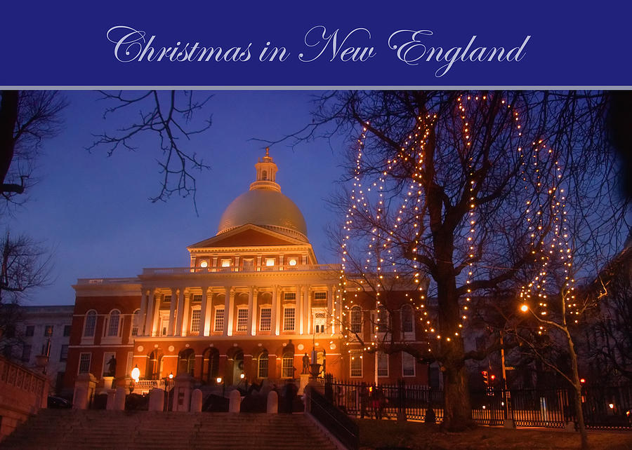 Boston Christmas Card Photograph - Christmas In New England by Joann ...