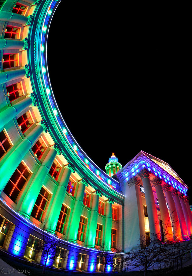 Christmas Lights Of Denver Civic Center Park Photograph