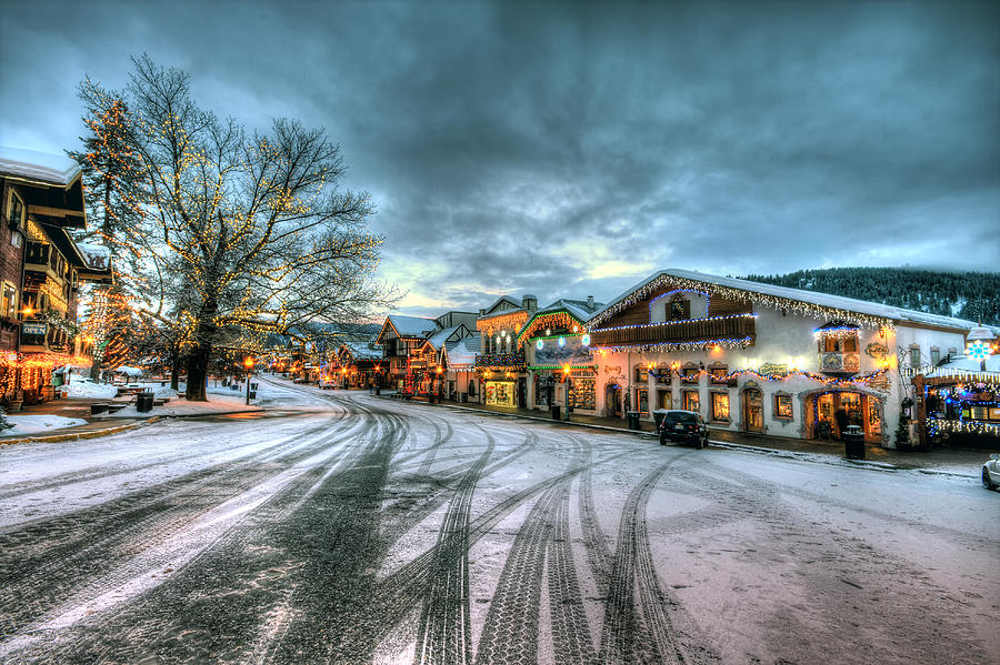 Christmas On Main Street Photograph  - Christmas On Main Street Fine Art Print