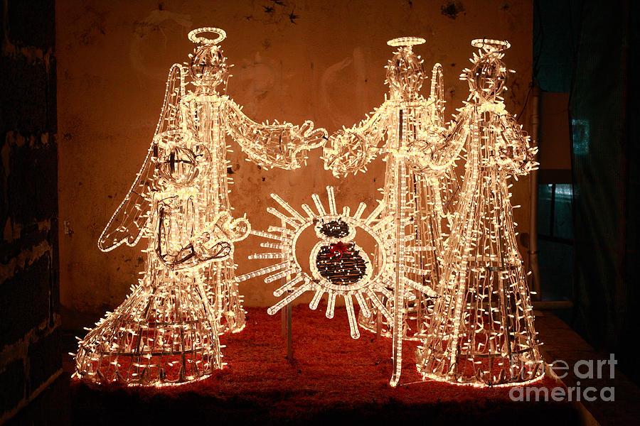 Christmas Photograph - Christmas Scene by Gaspar Avila