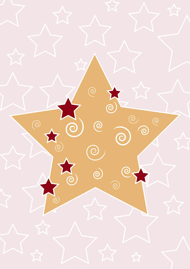 Christmas Star Drawing  - Christmas Star Fine Art Print