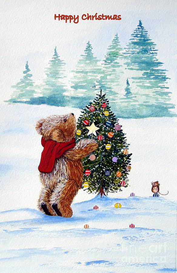 Teddy Bear. Christmas.snow.mouse.xmas.farther Christmas.christmas Trees.holiday.fall.santa Clause.bear.star.balls.bear.happy.scarf.snow Scene.in God We Trust.its A Wonderful Life.miracle On 34th Street.home Aloan.white Christmas.holly.ivy.berries.jesus Birthday. A Christmas Carol.scrouge.humbug.crackers.bells.turkey.sprouts.mulled Wine.decorations.yule Log.wreath.family.  Painting - Christmas Star by Gordon Lavender