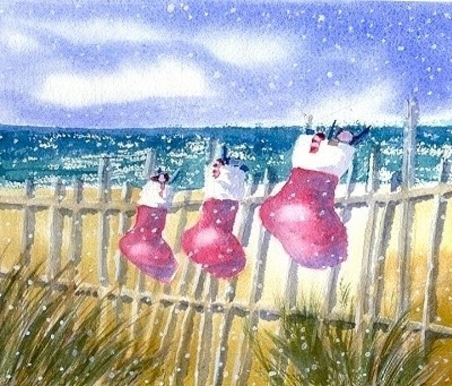 Christmas Stockings Painting