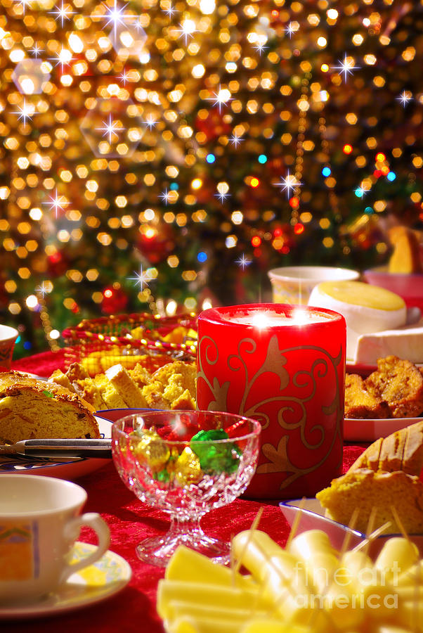 Christmas Table Set Photograph  - Christmas Table Set Fine Art Print