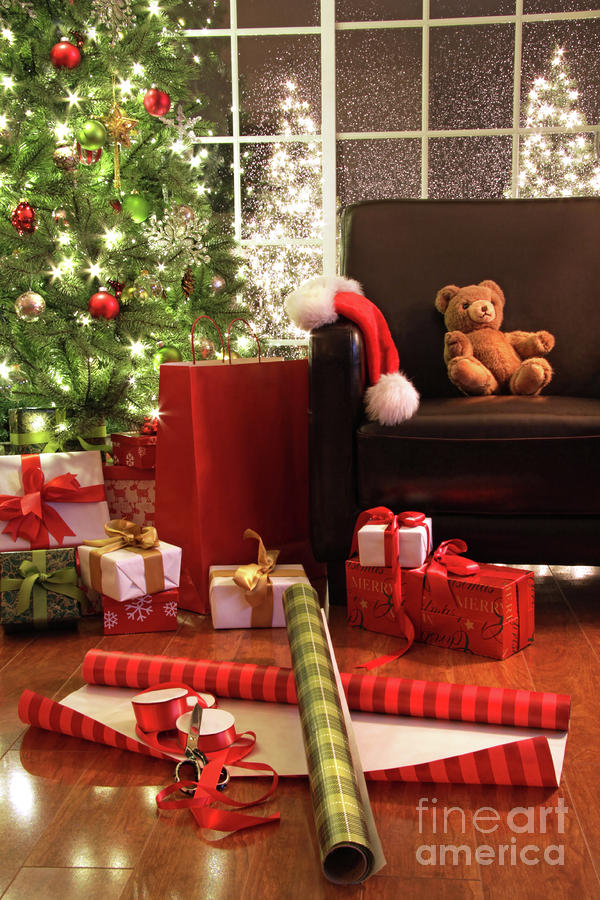 Christmas Tree With Gifts Photograph