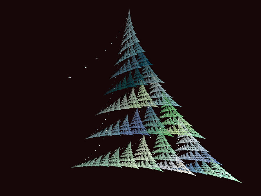 digital art christmas tree - photo #7
