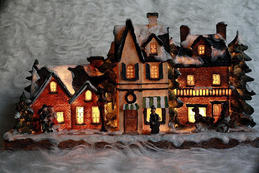 Christmas village is a photograph by chelsylotze international studio