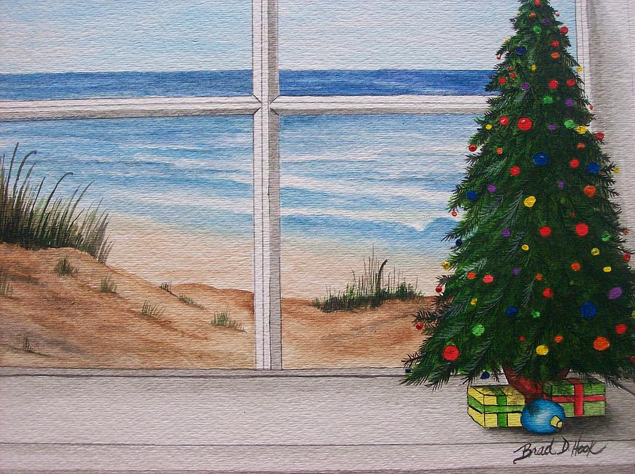 Christmas Window Painting  - Christmas Window Fine Art Print