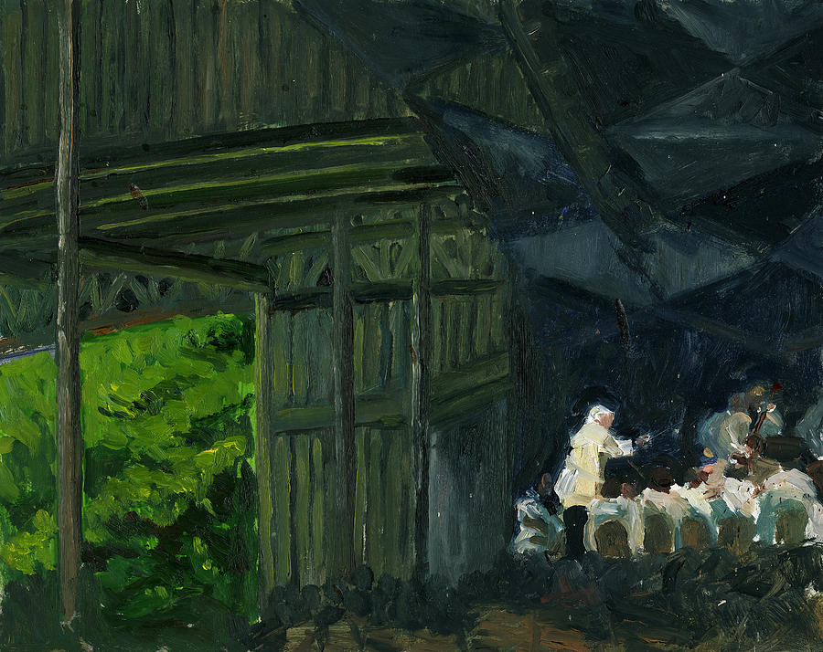 Christoph Von Dohnanyi At Tanglewood Painting