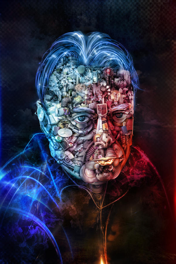 Christopher Hitchens Mixed Media