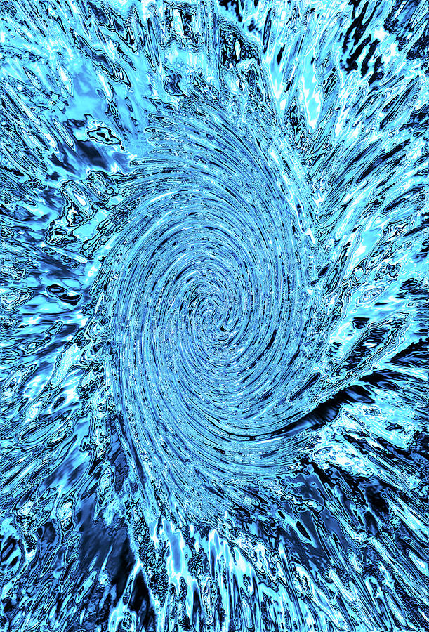 Chrome Water Whirlpool Photograph