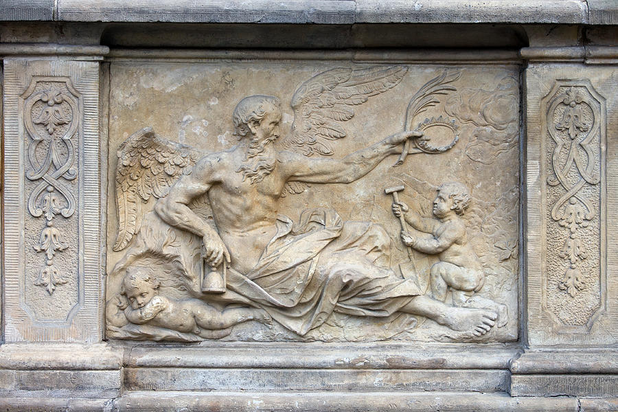Chronos Relief In Gdansk Photograph