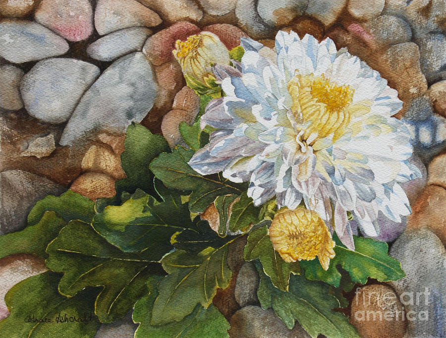 Chrysanthemums Painting by Grace Ashcraft