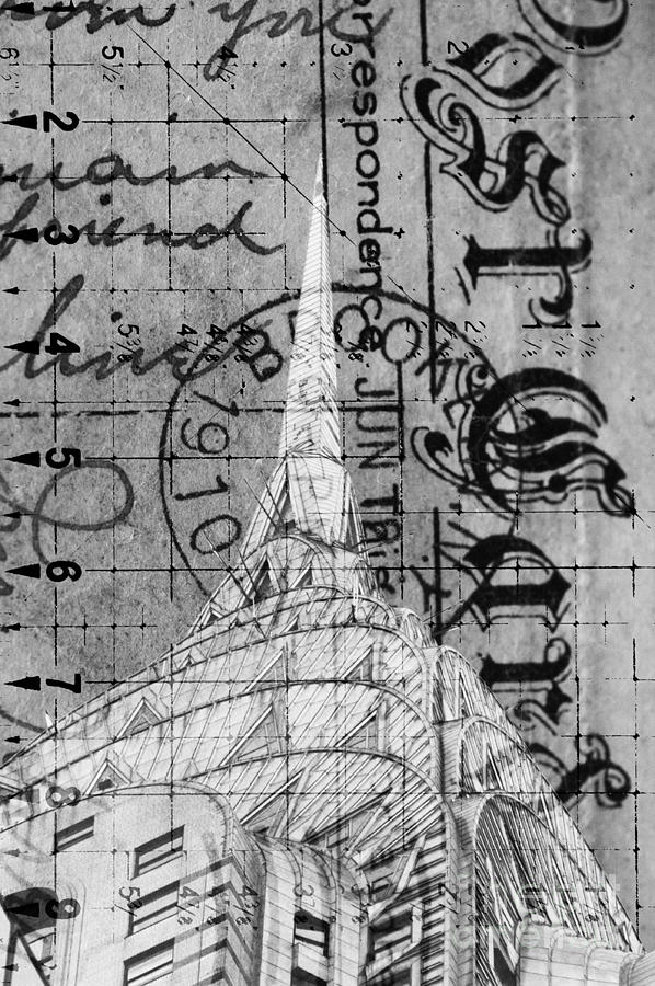 Chrysler Building Postcard Art Digital Art