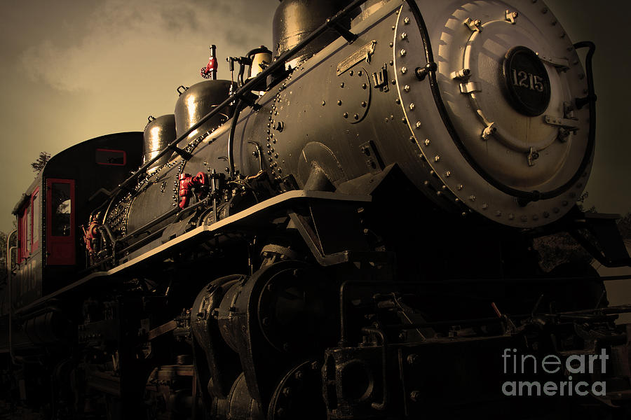 Chugging Across America In The Age Of Steam . Golden Cut . 7d12980 Photograph  - Chugging Across America In The Age Of Steam . Golden Cut . 7d12980 Fine Art Print