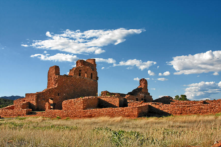 Church Abo - Salinas Pueblo Missions Ruins - New Mexico - National Monument Photograph  - Church Abo - Salinas Pueblo Missions Ruins - New Mexico - National Monument Fine Art Print