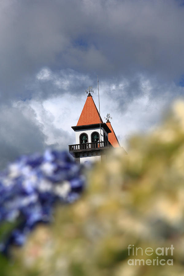 Church At Furnas Photograph  - Church At Furnas Fine Art Print