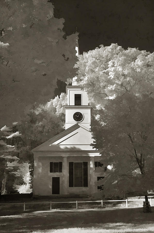 Church In Infrared Photograph  - Church In Infrared Fine Art Print
