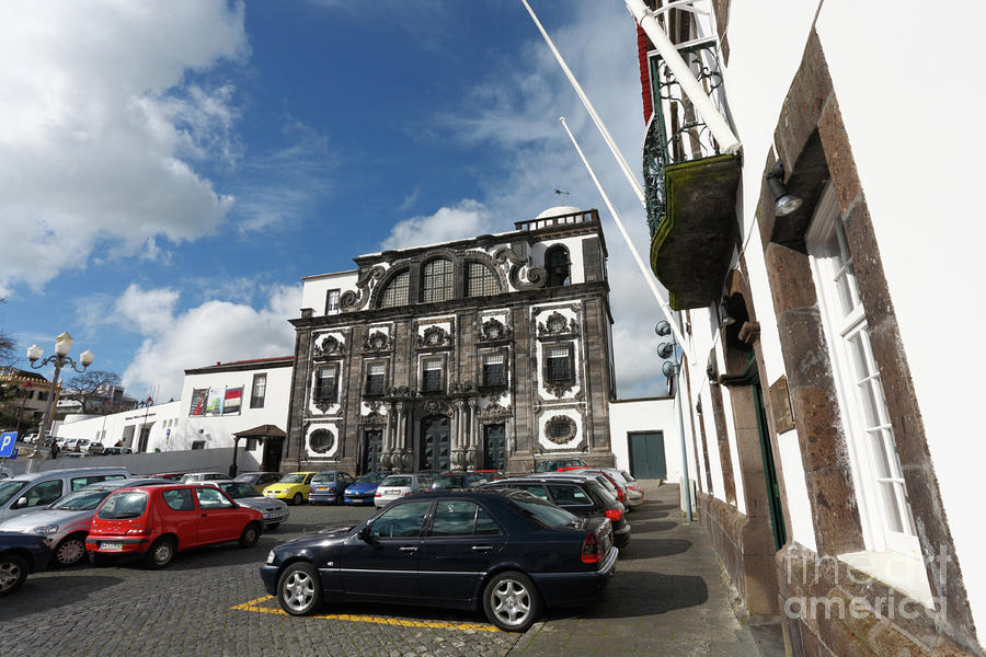 Church In Ponta Delgada Photograph  - Church In Ponta Delgada Fine Art Print