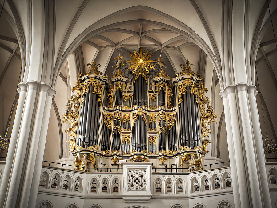 Church Organ Painting