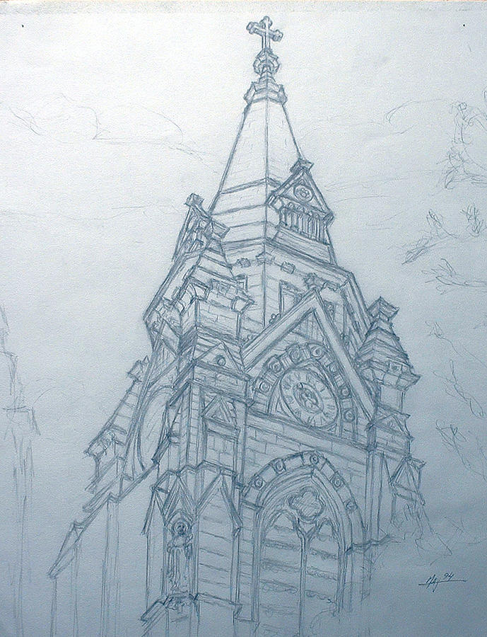 Church Steaple Drawing