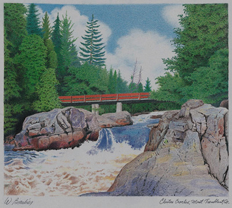 Chutes Croches Mt Tremblant Drawing