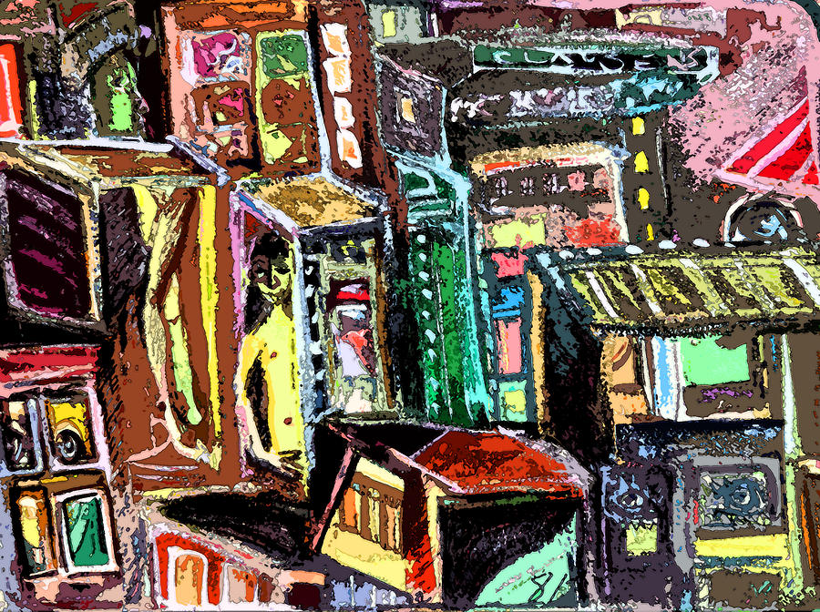 Cin City 2 Painting  - Cin City 2 Fine Art Print