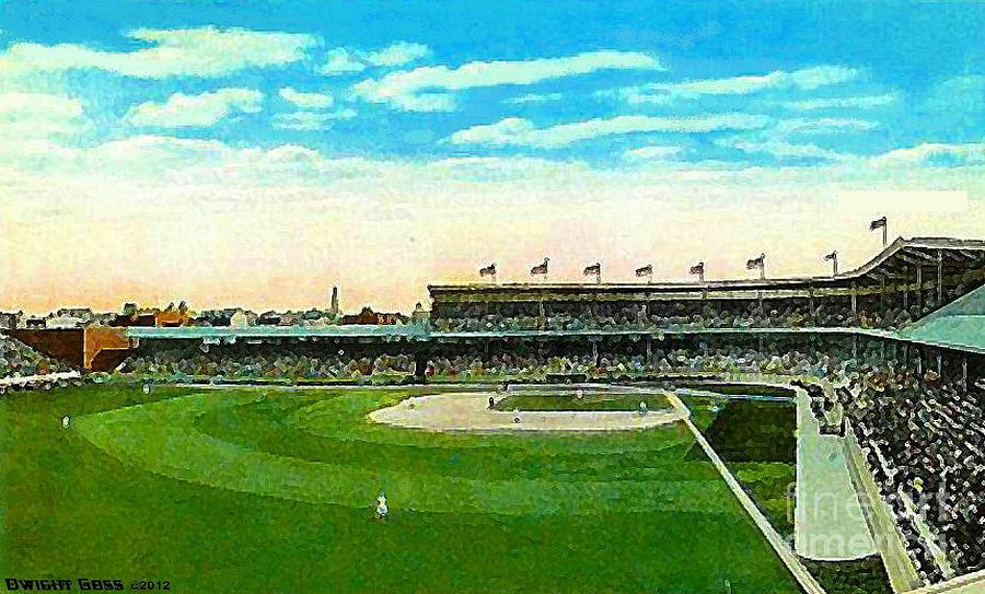Cincinnati Reds Redland Field In 1910 Painting  - Cincinnati Reds Redland Field In 1910 Fine Art Print