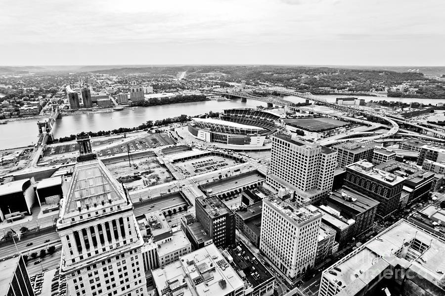 Cincinnati Skyline Aerial Photograph