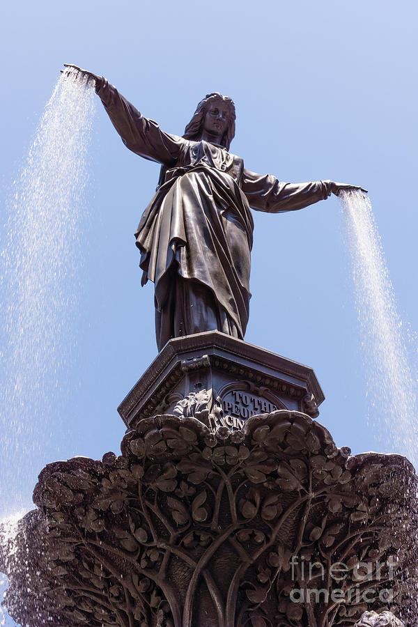 Cincinnati Tyler Davidson Fountain Genius Of Water  Photograph