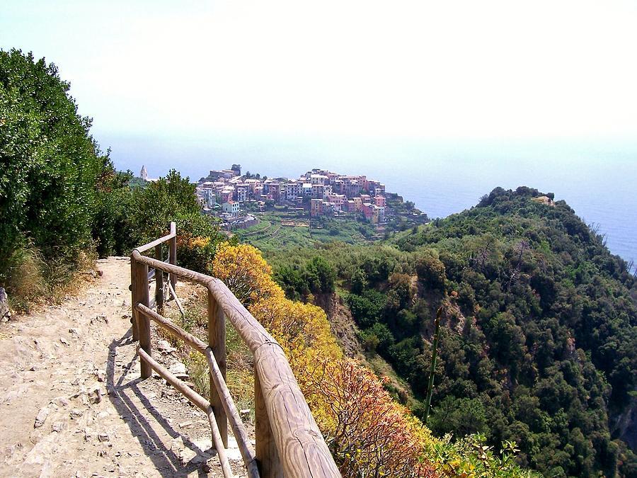 Cinqre Terre Corniglia From The Trail Photograph