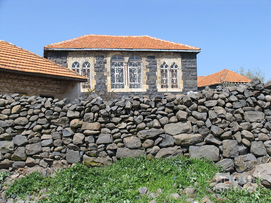 Circassian Village In Golan Photograph