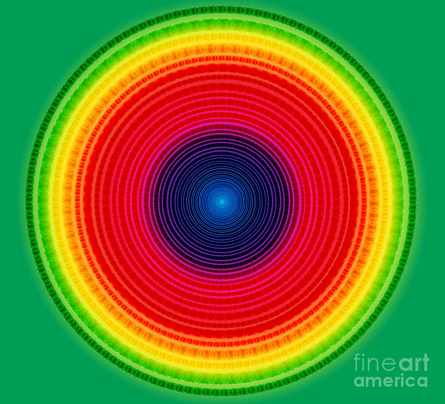 Circle X-ray Digital Art  - Circle X-ray Fine Art Print