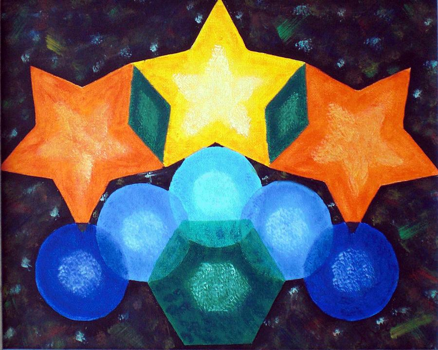 Circles And Stars Painting