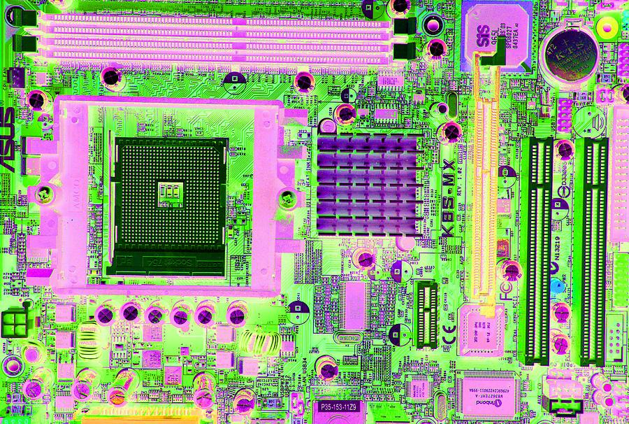 Equipment Photograph - Circuit Board by Victor De Schwanberg