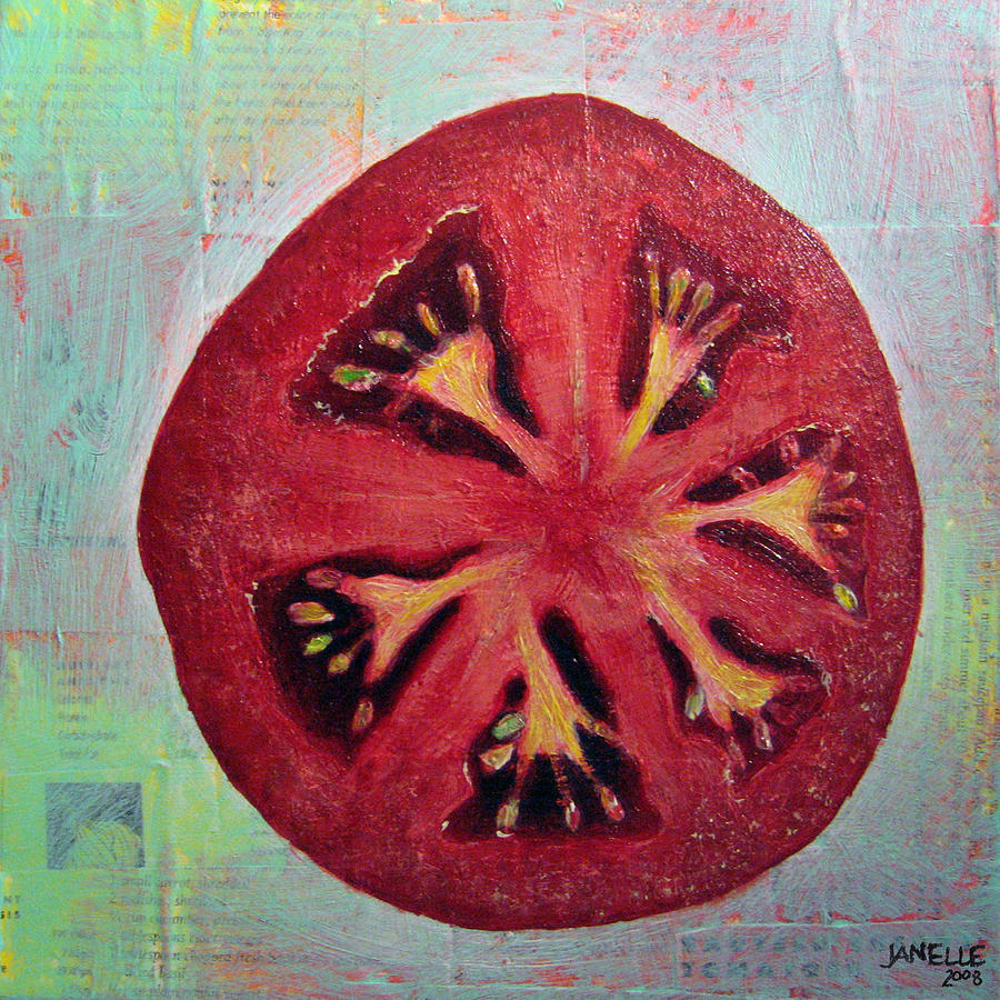 Circular Food - Tomato Painting