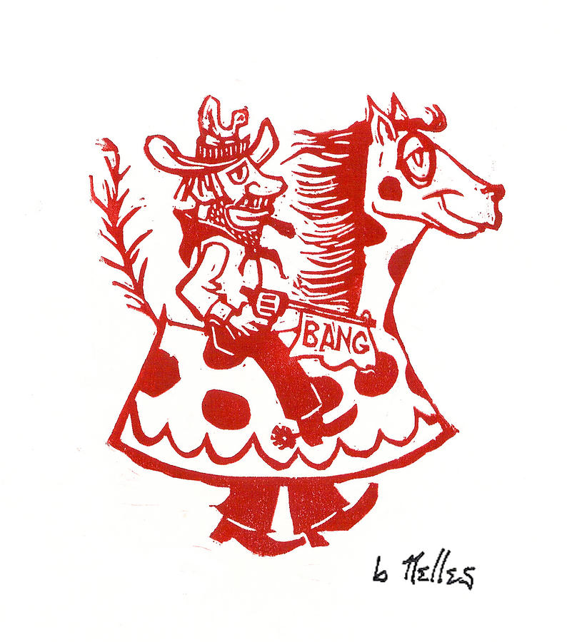 Circus Cowboy Painting