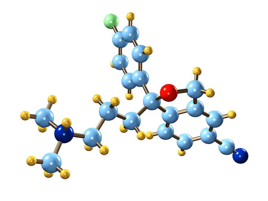 Citalopram Antidepressant Molecule Photograph