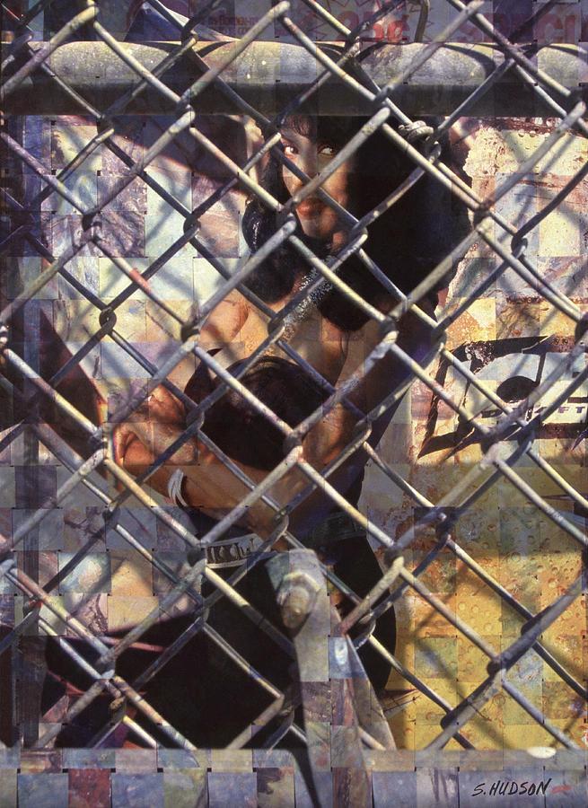 cities ghetto girl photography - Mona Lisa Photograph