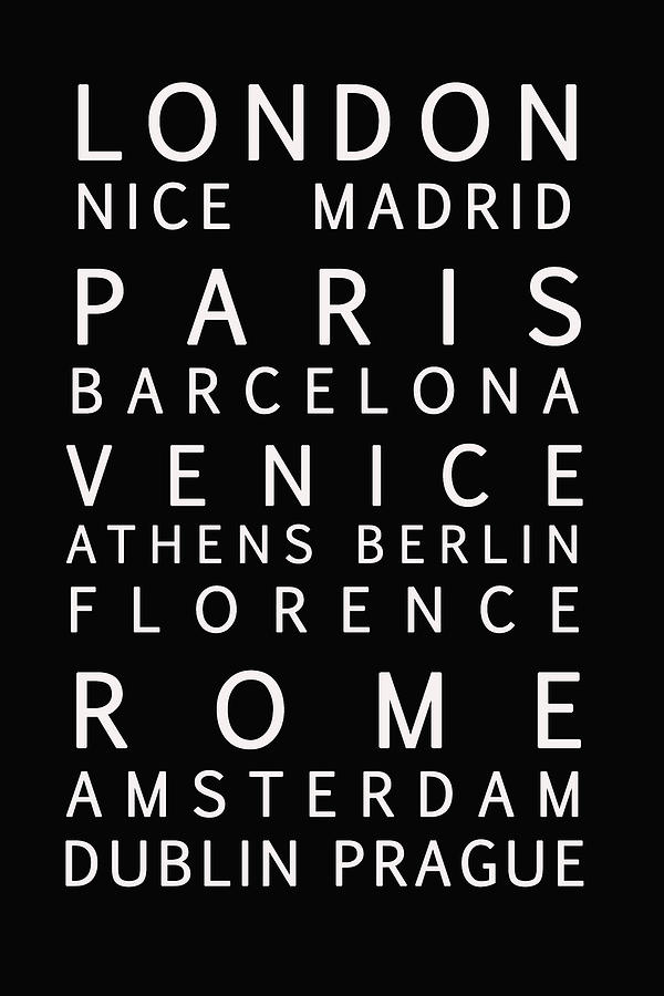 Cities Of Europe Photograph